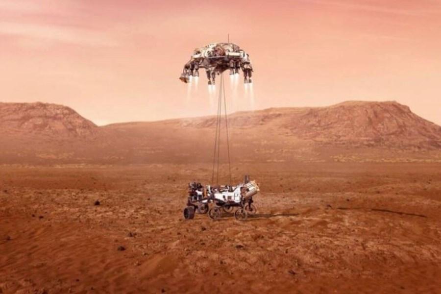 """نشستن موفقیت آمیز مریخنورد """"استقامت"""" روی سطح مریخ +عکس"""