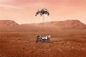 """تصویر  نشستن موفقیت آمیز مریخنورد """"استقامت"""" روی سطح مریخ +عکس"""