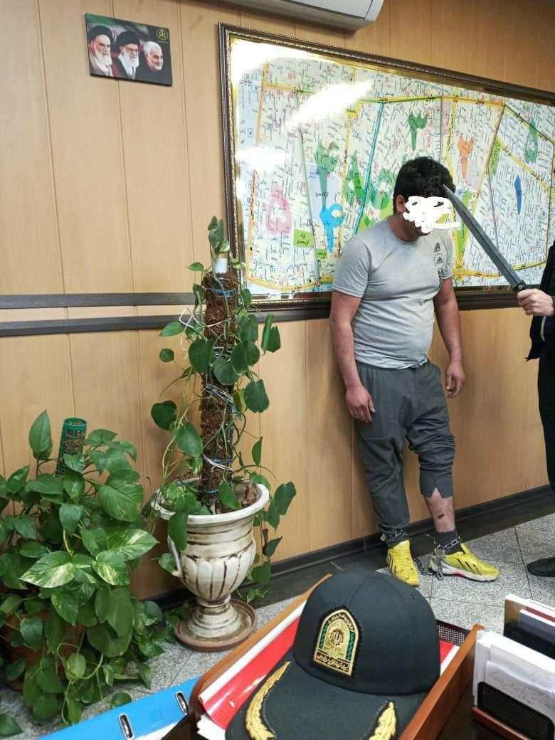 شرور و قمه کش خیابان تختی دستگیر شد