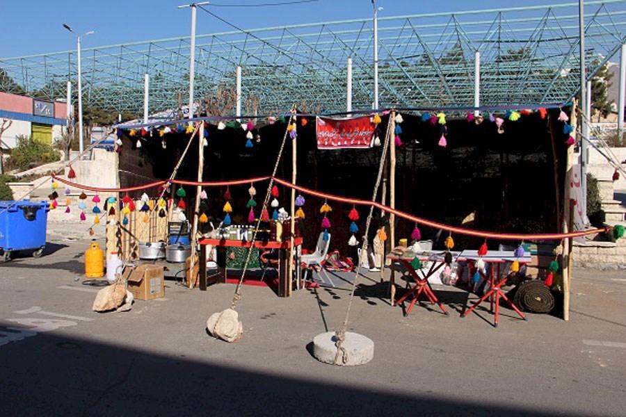 سیاهچادر عشایر کهگیلویه و بویراحمد در نمایشگاه تهران برپا شد