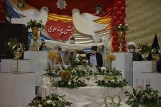 برگزاری جشن ازدواج 55 زوج جوان بهابادی