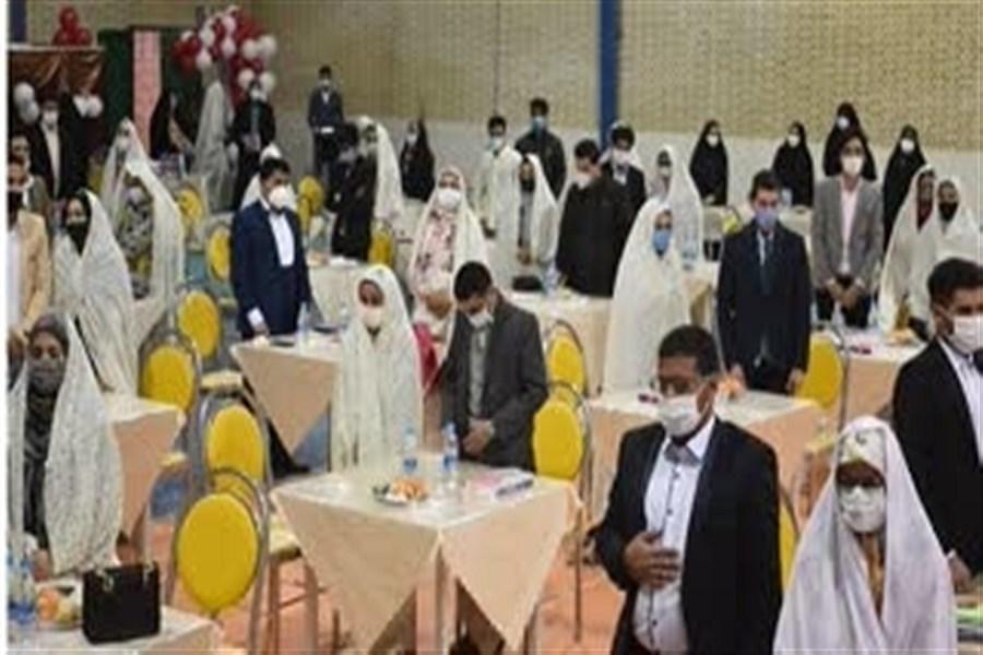 جشن ازدواج 55 زوج بهابادی به روایت تصویر