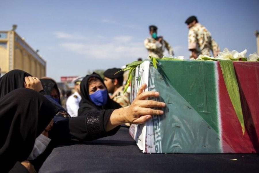 تشییع پیکر شهید نیروی انتظامی در زاهدان