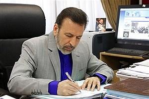 تصویر  پیام واعظی در پی درگذشت علی اکرمی