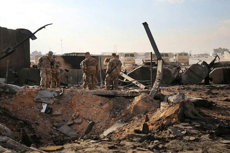 تصویر پایگاه عین الاسد در هم پیچید