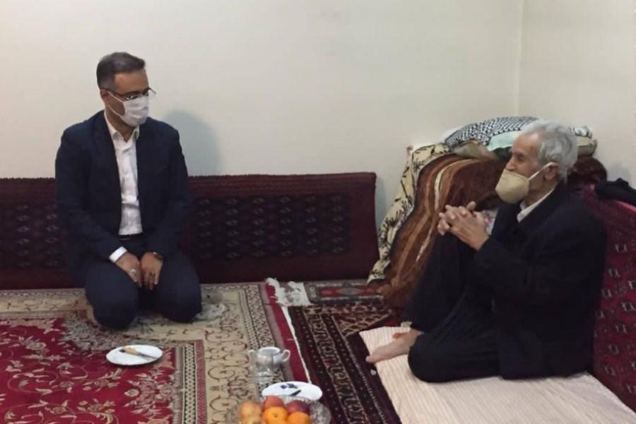 دیدار نماینده نخبگان جوان ایرانی با استاد شیخ ولی الله فراهانی