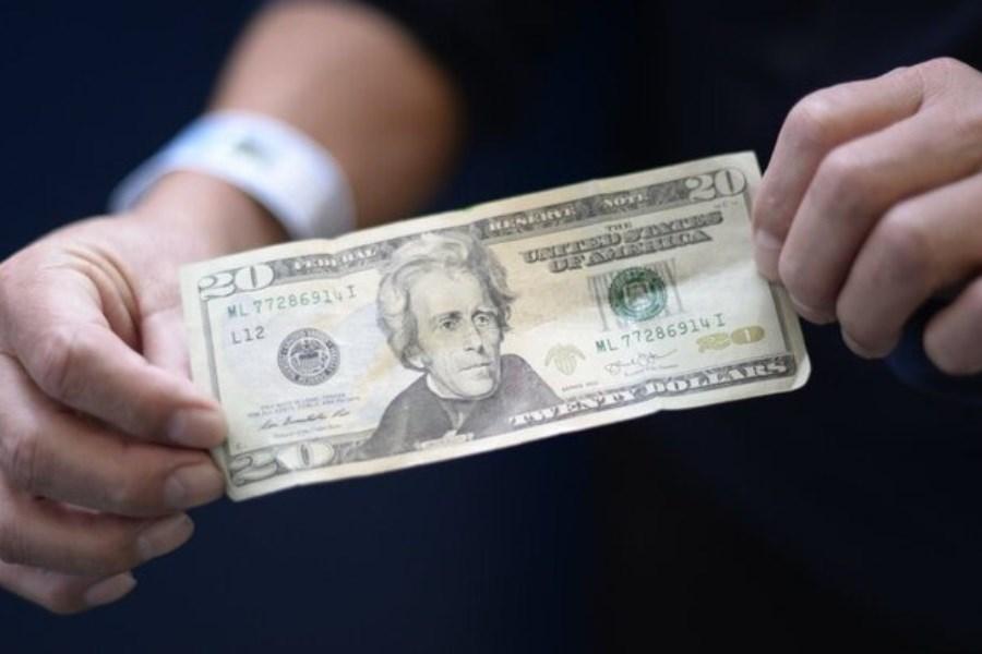 تصویر ارزش دلار برای دومین روز متوالی کاهش یافت