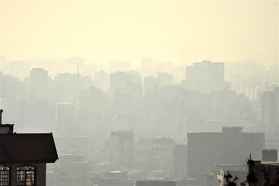 تصویر هوای ناسالم تهران برای گروههای حساس