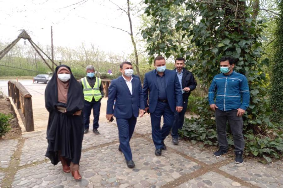 بازدید فرماندار رشت از موزه میراث روستایی گیلان واقع در منطقه سراوان