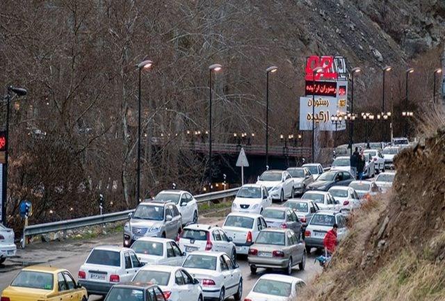 ترافیک در محور چالوس و هراز سنگین است