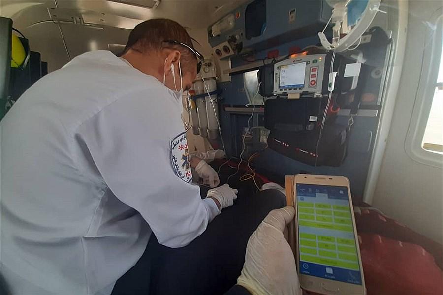 انجام اولین ماموریت اورژانس هوایی یزد در سال جدبد
