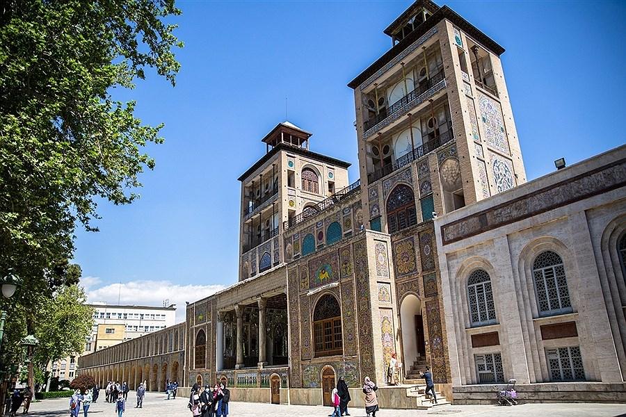بازدید گردشگران نوروزی از کاخ گلستان