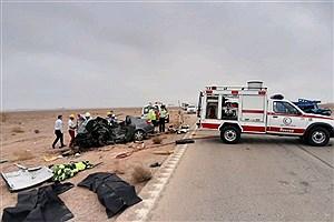 تصویر  تصادف در محور بشرویه - فردوس جان سه نفر را به کام مرگ کشاند