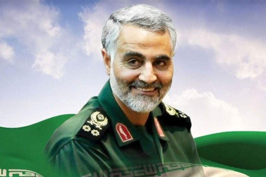 تصویر سردار سلیمانی روبروی سربازان صهیونیستی