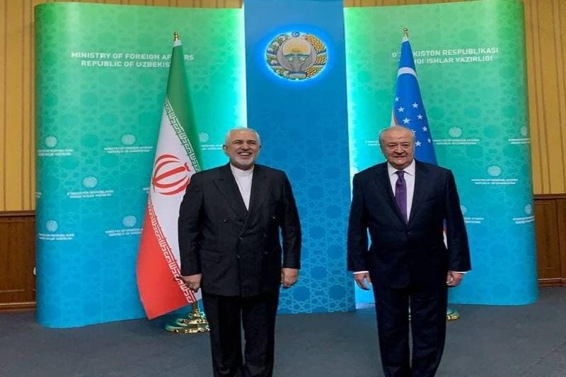 دیدار ظریف در تاشکند با همتای ازبکستانی خود