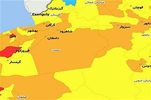 تصویر  کدام شهرهای استان سمنان امروز نارنجی کرونایی هستند؟