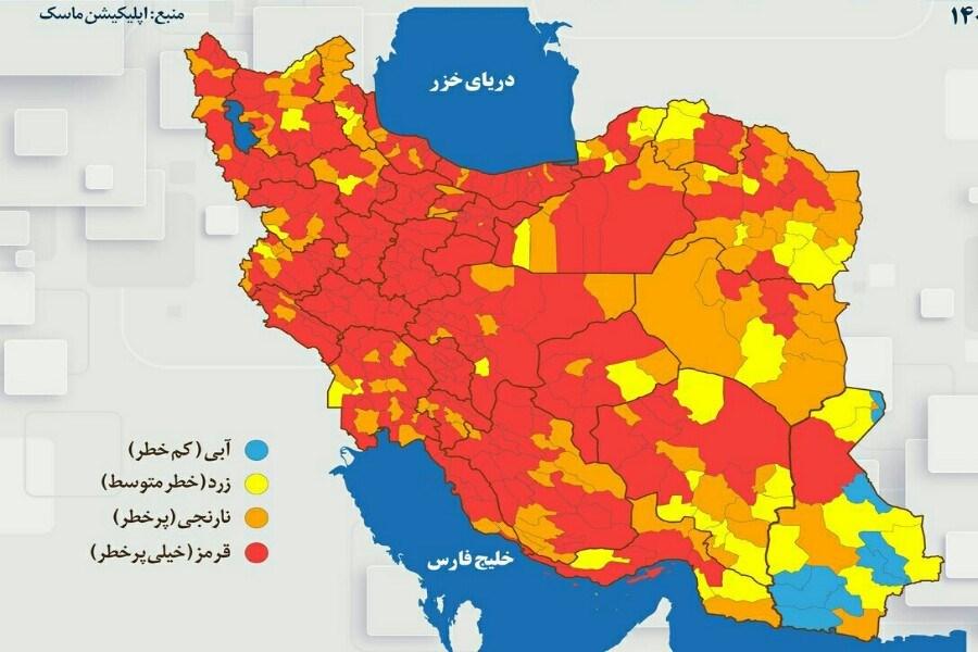۱۲ شهرستان استان مرکزی به وضعیت قرمز پیوست