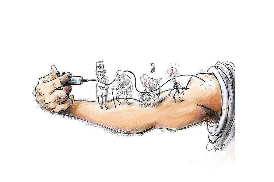 تصویر ببینید واکسن به چه کسی رسید!