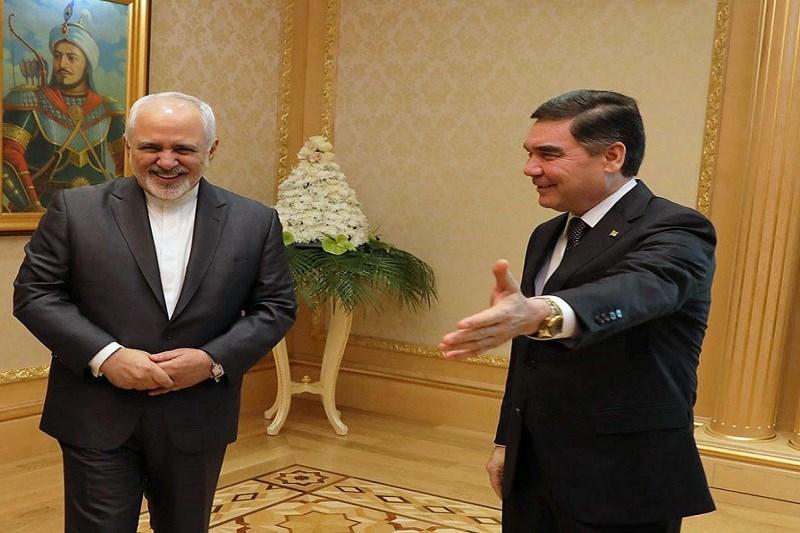 دیدار و گفتگوی ظریف با رئیسجمهور ترکمنستان