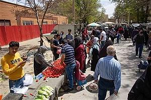تصویر  برپایی جمعه بازار در موج چهارم کرونا