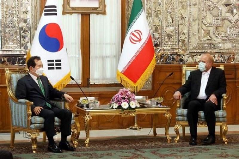 دیدار نخست وزیر کره جنوبی با قالیباف