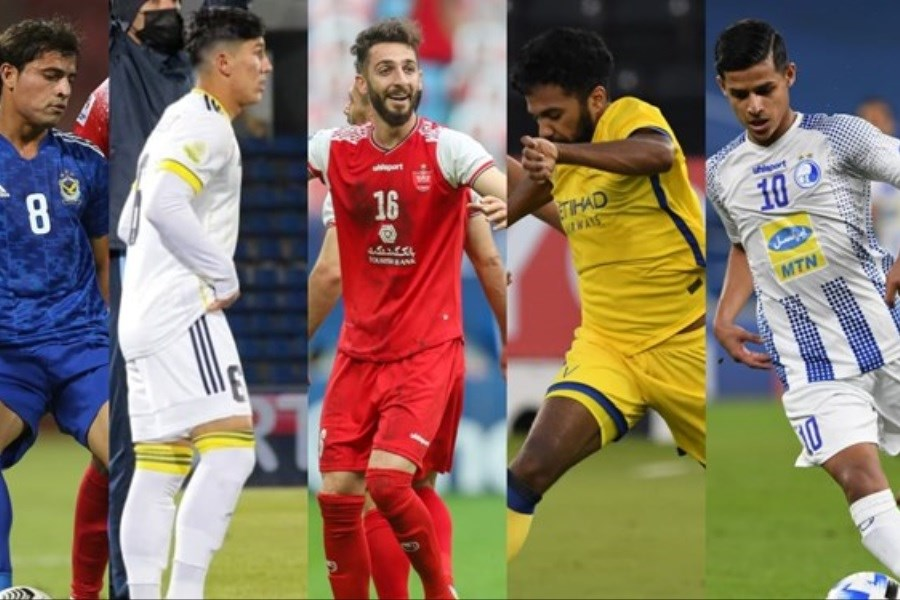 تصویر قائدی و عبدی جزو 6 ستاره جوان لیگ قهرمانان آسیا 2021