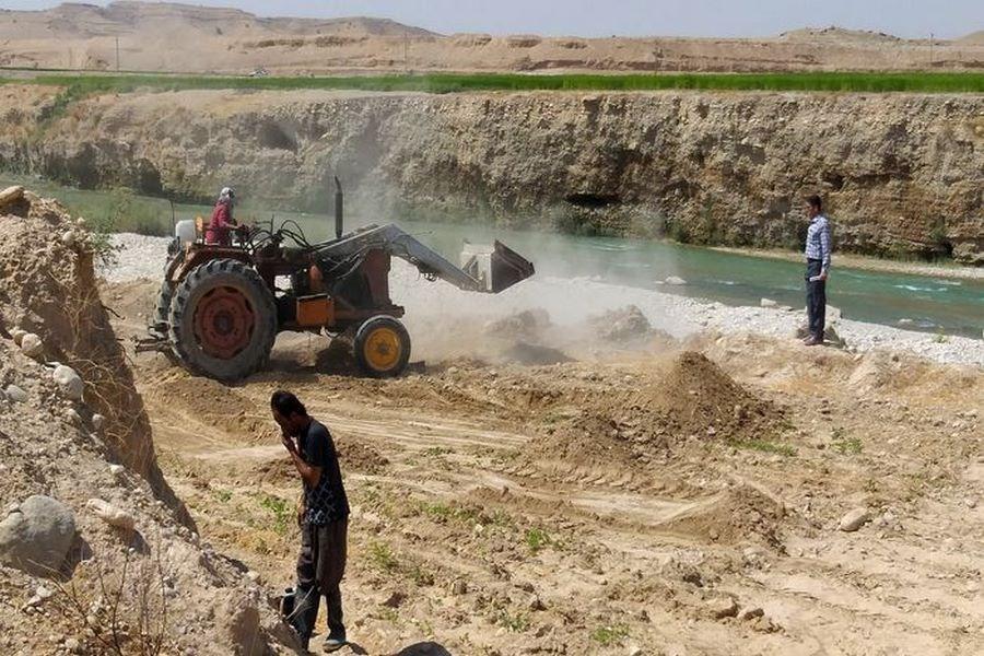 ۳۶۰۰ متر مربع اراضی رودخانه شیرینسو از چنگ سودجویان آزاد شد
