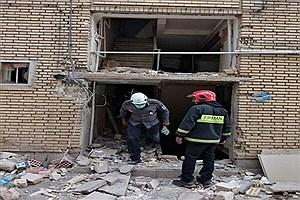 تصویر  انفجار منزل مسکونی در کرمان با 5 مصدوم