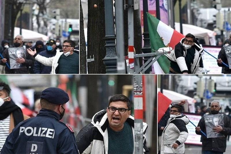 حمله اعضای گروهکهای ضدانقلاب به محل مذاکرات ایران و ۱+۴