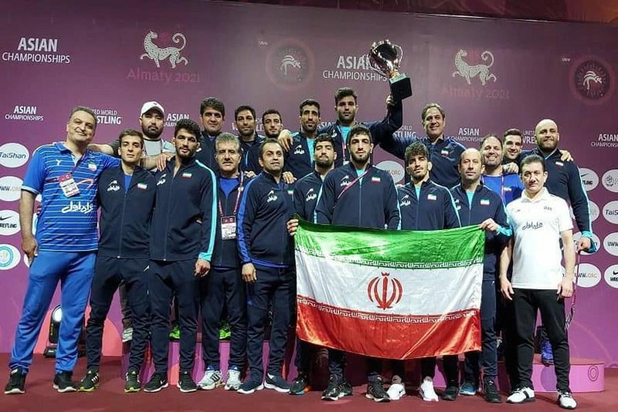 «قهرمانی آسیا» برای پهلوانان کشتی آزاد ایران با حمایت همراه اول