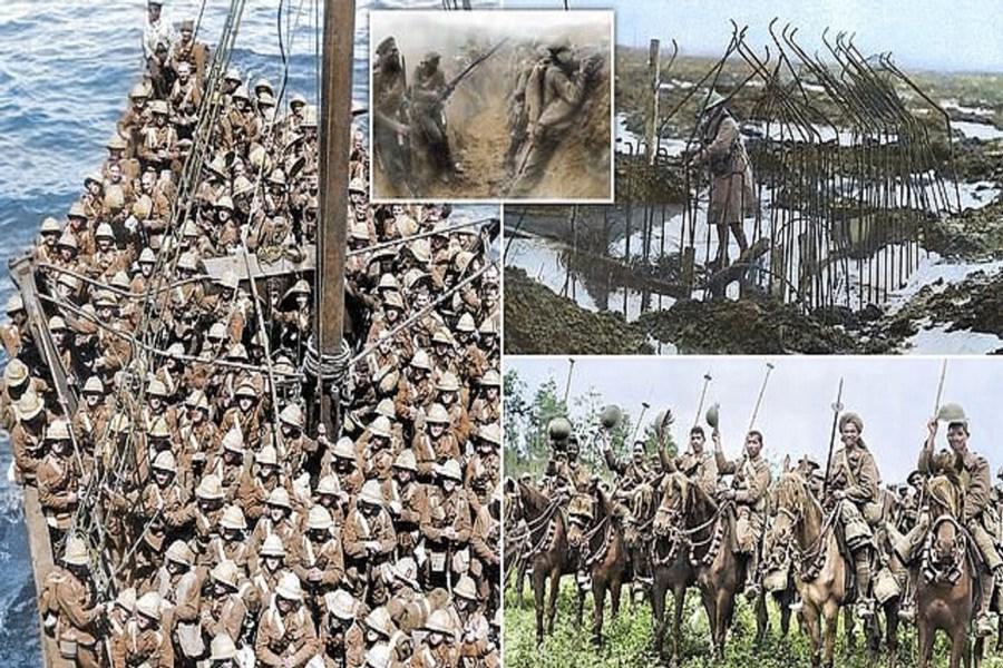تصاویر رنگی دیده نشده از جنگ جهانی اول