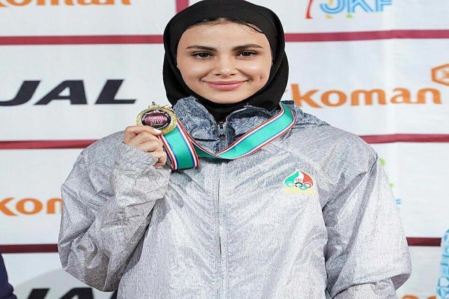بانوی کاراته کار گیلانی عازم مسابقات جهانی وان پرتغال شد