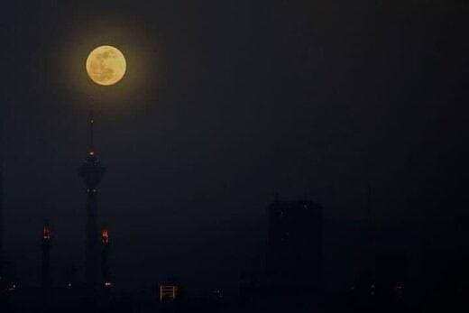 پدیده ابرماه در تهران + تصاویر
