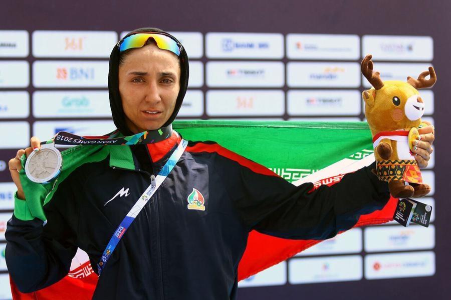 تصویر حضور بانوی قایقران گیلانی در مسابقات انتخابی المپیک