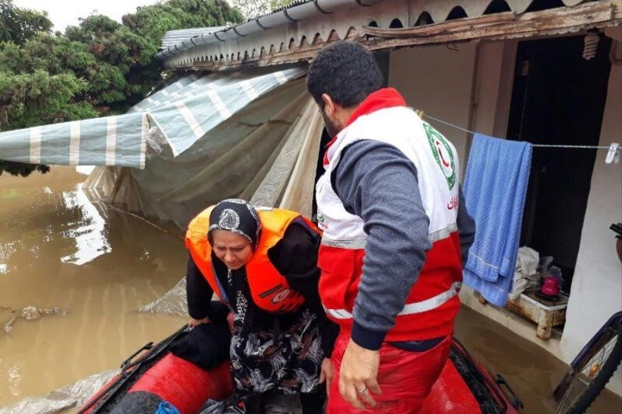 امدادرسانی به بیش از ۱۸۰۰ نفر از هموطنان گرفتار در سیلاب