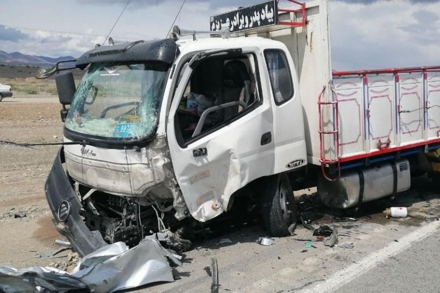 7 زخمی و کشته در برخورد ۴ خودرو در محور کاشمر به شادمهر