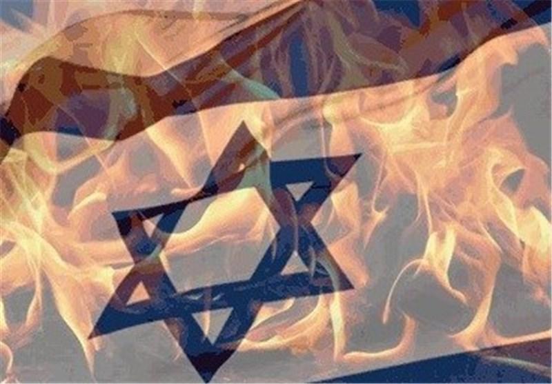 نماد اسرائیل در یزد به آتش کشیده شد + فیلم