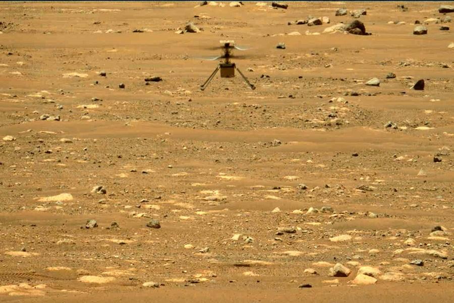 """""""نبوغ"""" پنجمین پرواز خود را بر فراز مریخ انجام داد"""