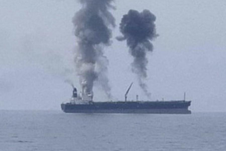 انفجار یک کشتی در بندر بانیاس سوریه