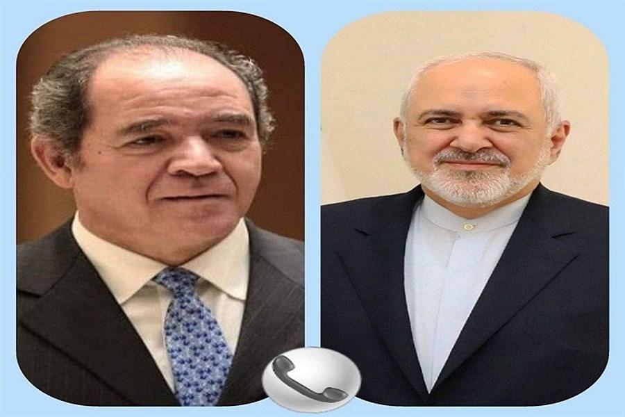 گفت وگوی تلفنی ظریف با وزیر امور خارجه الجزایر