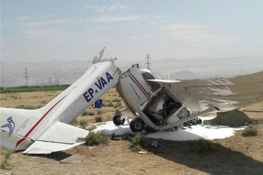 تصویر علت سانحه دیروز سقوط هواپیما در فرودگاه اعلام شد