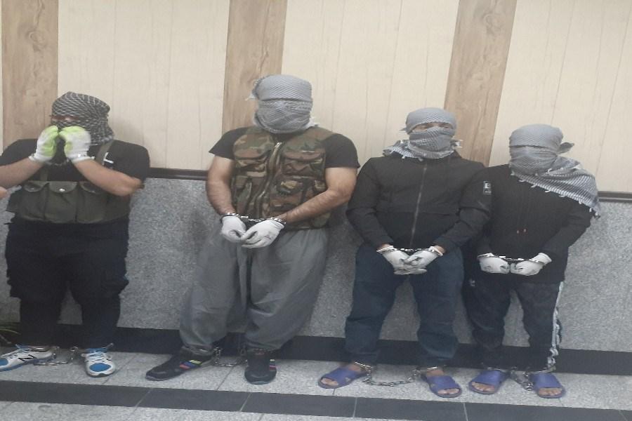 دستگیری باند دالتون های طلافروشی های  غرب استان تهران