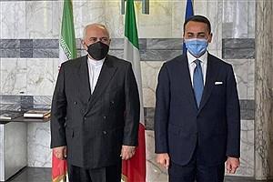 تصویر  ظریف با وزیر خارجه ایتالیا دیدار کرد