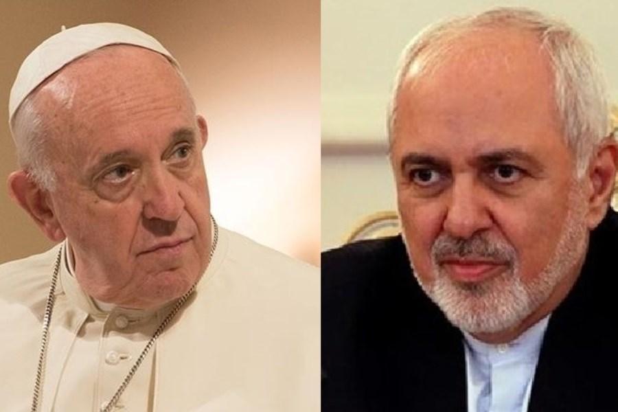ظریف با پاپ فرانسیس دیدار کرد