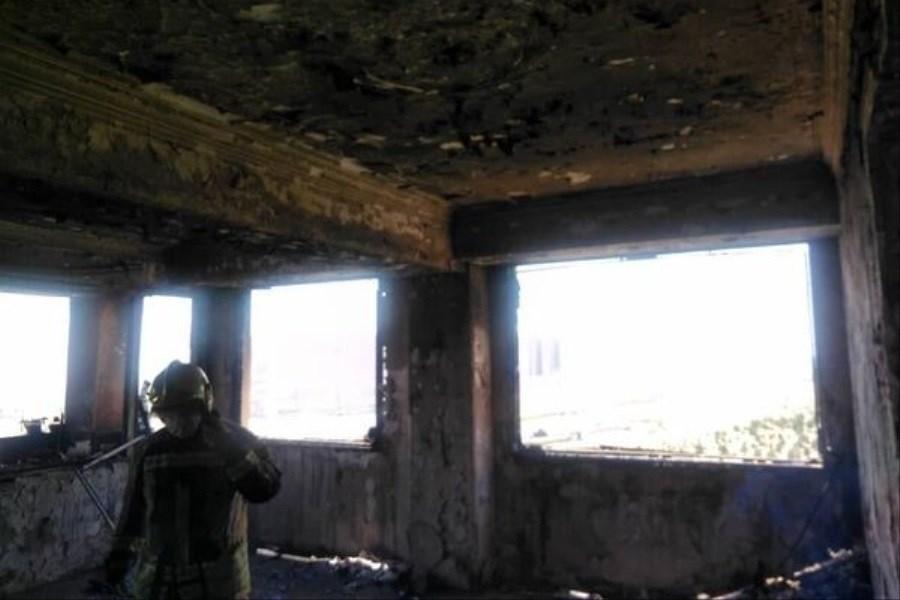 حریق در برج ۱۰ طبقه پایتخت
