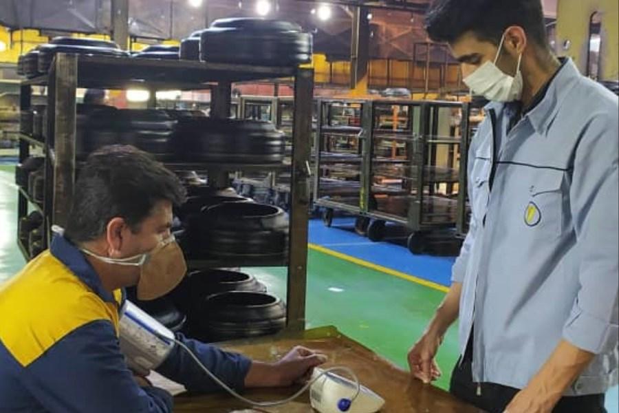 گرامیداشت روز جهانی فشار خون در مجتمع صنایع لاستیک یزد