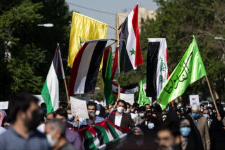 راهپیمایی حمایت از مردم فلسطین در خرمآباد برگزار شد