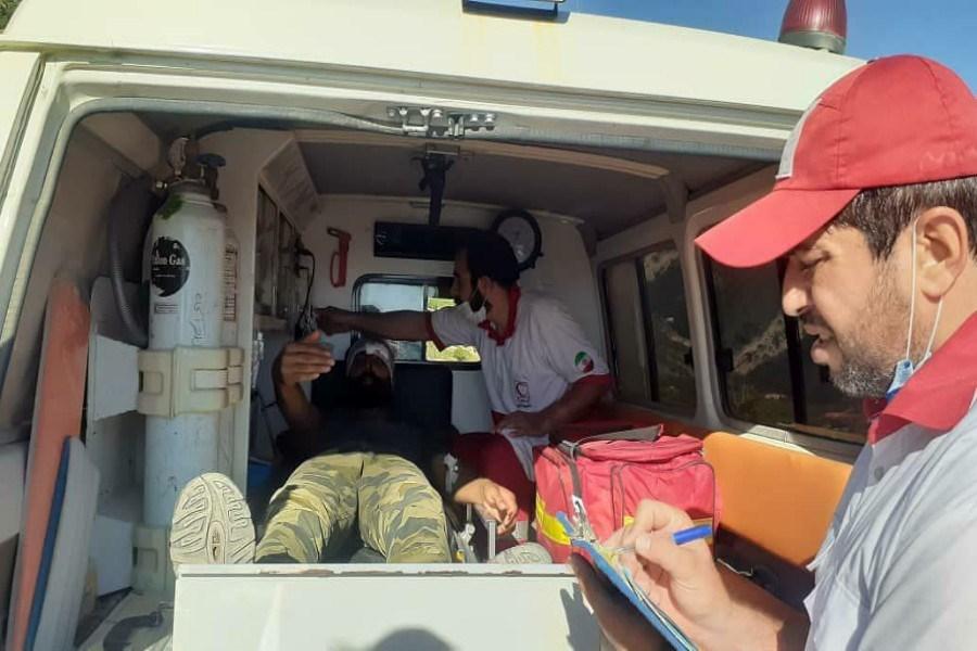 نجات جوان ۳۱ ساله در ارتفاعات هاور خراسان شمالی توسط هلال احمر
