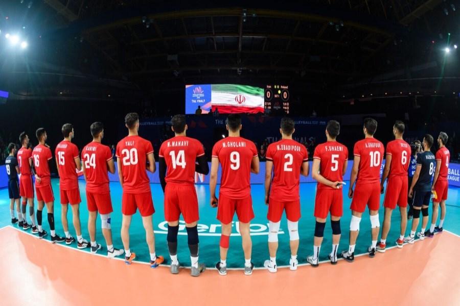 جدول پخش مسابقات تیم ملی والیبال ایران در لیگ ملتها