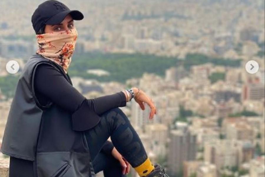 کوهنوردی الناز شاکردوست در اطراف تهران! عکس